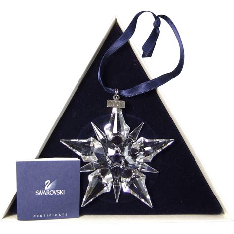 2001 swarovski crystal snowflake annual edition christmas