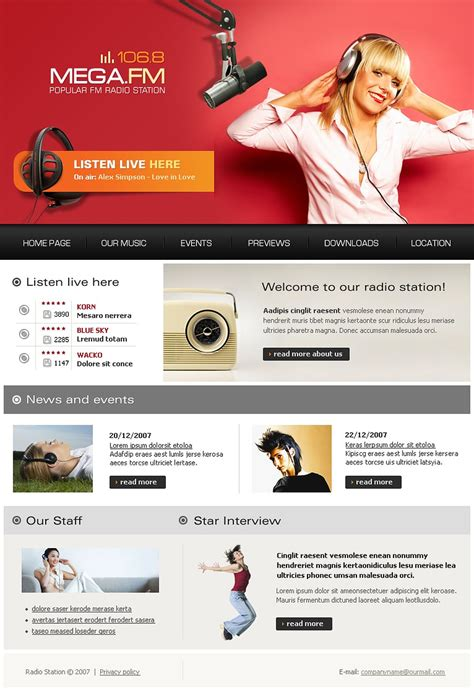 radio website website template 17837