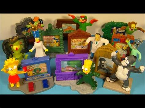 simpsons treehouse of horror figures 2002 the simpsons creepy classic s set of 10 burger king