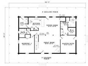3 bedroom log cabin plans