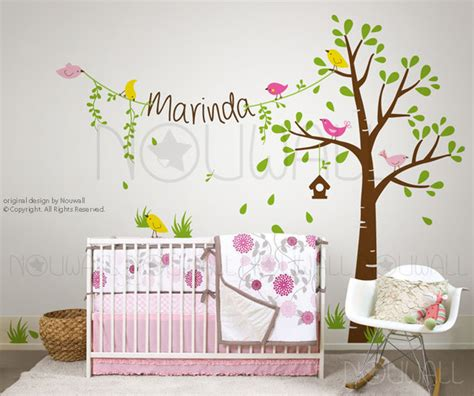 Tree Wall Decal For Nursery Kids Wall Decals Baby Nursery Wall Decals Tree