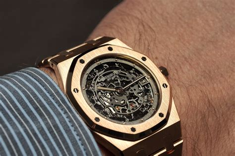 professional watches on with audemars piguet royal oak openworked thin gold