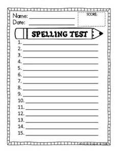 test templates for teachers free spelling test template sped13 14 to