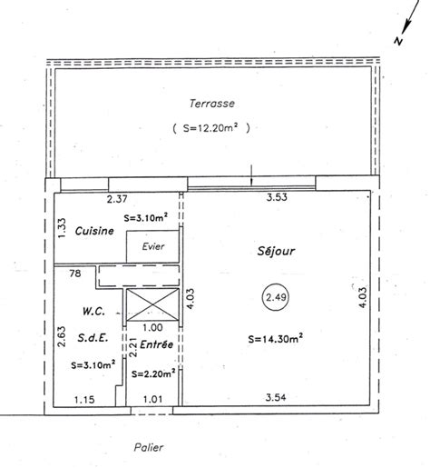 Plan Studio 12m2 by Cheap In A Building With Guard And Intercom In The Th