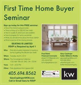 first time home buyer seminar flyer urban living okc