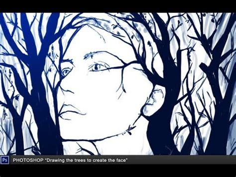 create drawing photoshop quot drawing the trees to create the quot