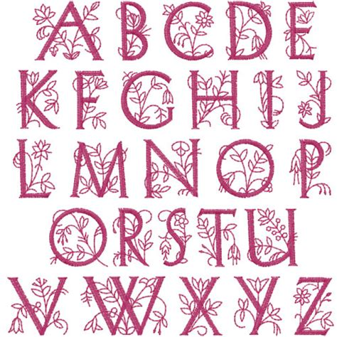 floral pattern font dainty floral embroidery font annthegran