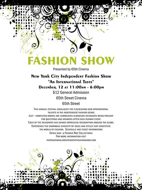 Fashion Show Template fashion show flyer