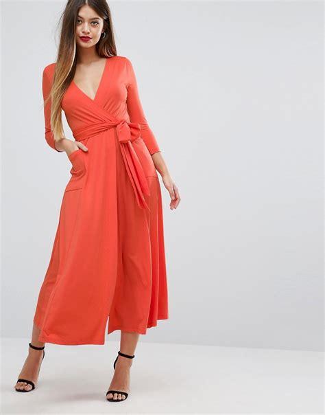 Dress Crepe Import Maxi Dress 1 Asos Asos Wrap Maxi Dress In Jersey Crepe At Asos