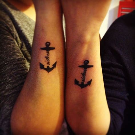 sister anchor tattoos symbolic tattoos pinterest