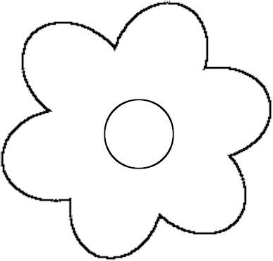 flower template to cut out clipart best