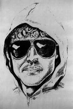Unabomber Ted Kaczynski Police Sketch 1 by Tony Rubino