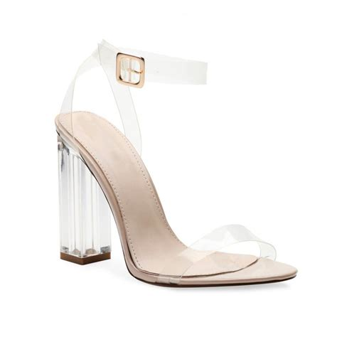 clear high heel pumps alia strappy perspex high heels in clear