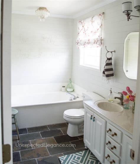 bathroom makeover on a budget completed bathroom budget makeover and a sparkly light