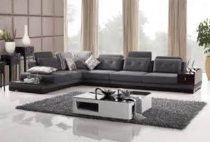 Living Room Sectionals Gresham Sectional Sofa Fabric Grey Black And Brown