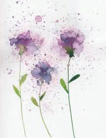 water color flower purple and blues watercolor flower print flowers fanart