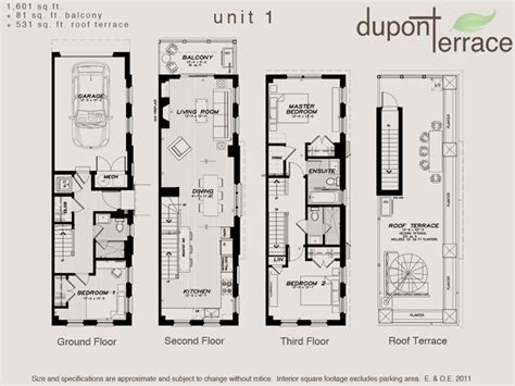luxury townhouse floor plans toronto dupont terrace floor plan plans