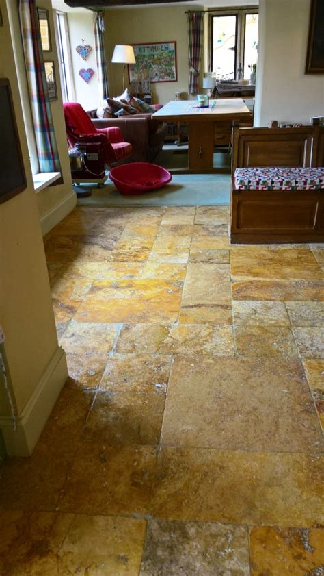 travertine kitchen floor cleaning a travertine kitchen floor in the cotswolds cleaning and polishing tips