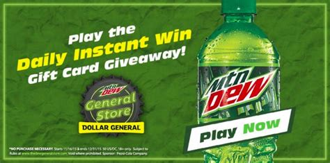 Dollar General Gift Cards - mountain dew dollar general gift card giveaway thedewgeneralstore ad debt free