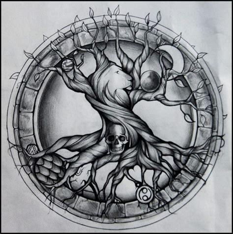 Tatto Vorlagen Muster Spirit 50 Ideen F 252 R Lebensbaum Tattoos Zenideen