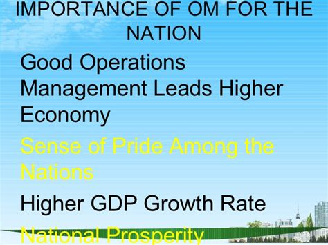 Mba In Operations Management Scope by Operations Management Ppt Bec Doms Bagalkot Mba