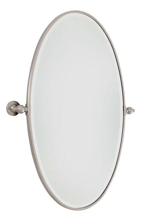 large bathroom mirrors brushed nickel minka lavery brushed nickel extra large oval pivoting