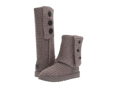 ugg australia cardy classic knit boot women women ugg australia classic cardy boot 1016555 grey wool