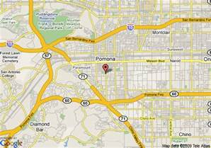 map pomona california map of comfort inn pomona pomona