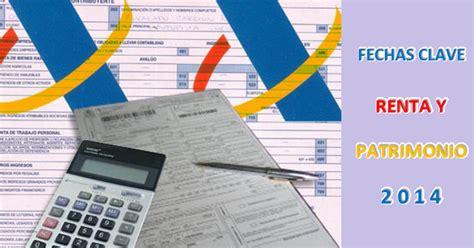 renta y patrimonio 2015 bizkaiaeus fechas clave renta y patrimonio 2014