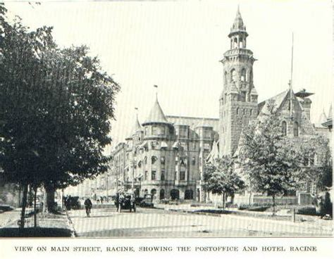 Post Office Racine Wi by Looking West From Court House Tower 1883 Source Racine