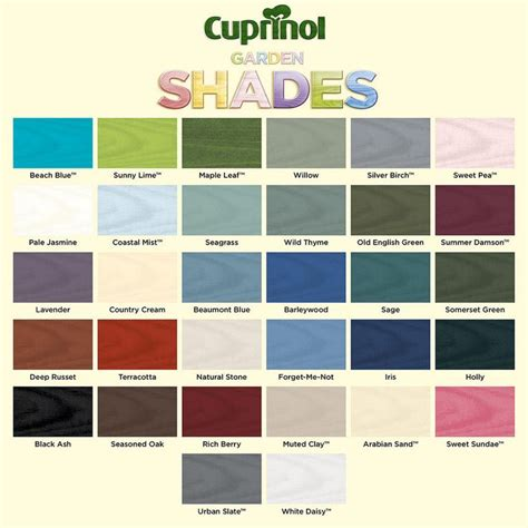 cuprinol garden shades furniture shed fence outdoor paint 1l 2 5l colour choice thumbnail 2