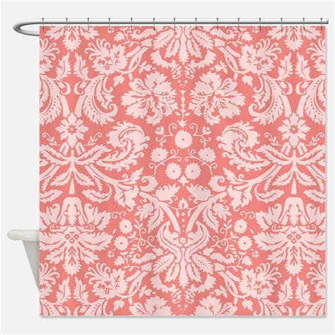 coral patterned curtains coral shower curtains coral fabric shower curtain liner