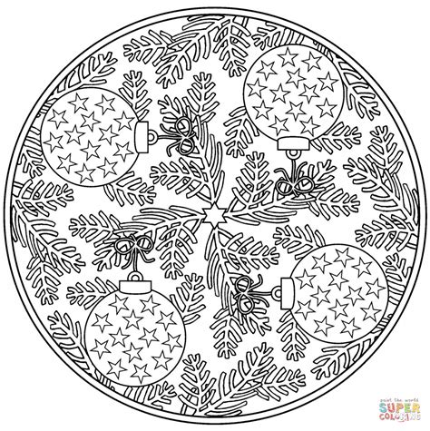 christmas mandala coloring pages printable printable
