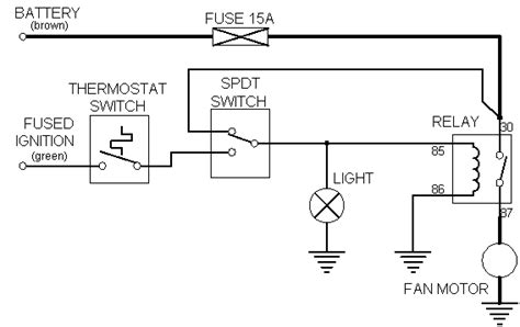 cooling fan wiring diagram manual circuit and schematics