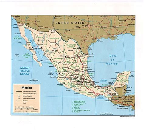 map of mexico and texas carte du mexique