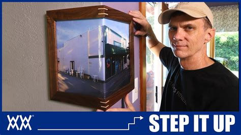 wrap  corner picture frames step   woodworking