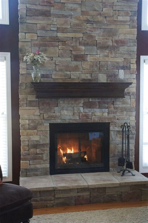 stacked stone fireplace ideas 134 best images about indoor fireplace ideas on pinterest