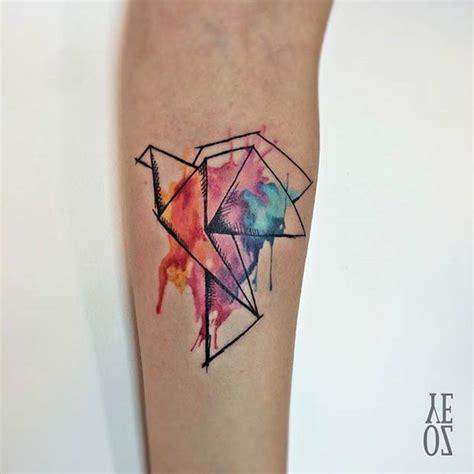 watercolor tattoo origami origami crane watercolor
