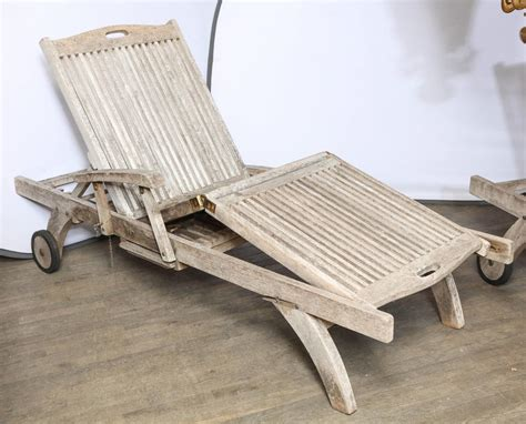 teak outdoor chaise teak outdoor lounge chaise at 1stdibs