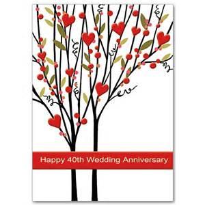 happy 40th wedding anniversary 40th wedding anniversary card