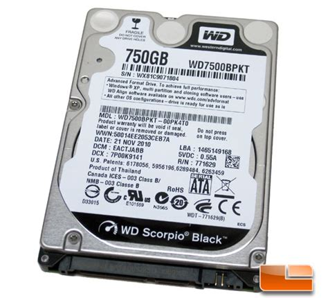 Hdd Laptop Wdc wd scorpio black 750gb notebook drive review legit