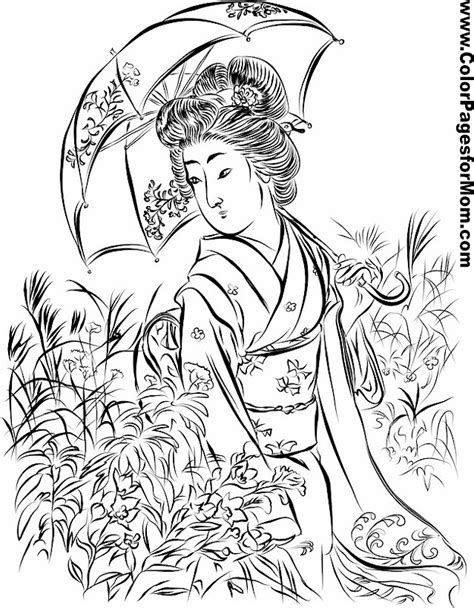 coloring pages for adults asian asian coloring page 15