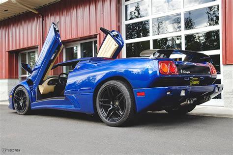 Blue Lamborghini For Sale Blue Flake Metallic Lamborghini Diablo Roadster For Sale