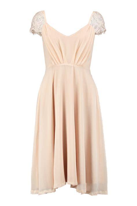 Sleeve Midi Chiffon Dress boohoo womens peony eyelash lace sleeve chiffon midi