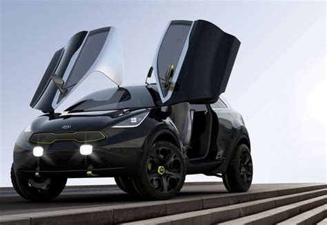 compact kia niro concept car with butterfly doors tuvie