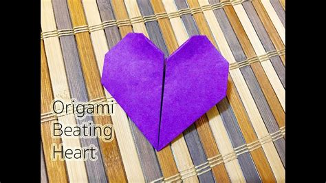 How To Make A Paper Beating - how to make an origami beating สอนพ บห วใจ เต น