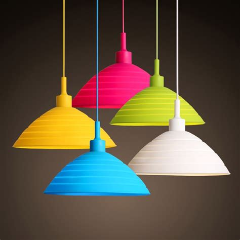 Modern Multicolor Silicone Wire Hanging Pendant Light For Childrens Pendant Lighting