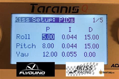 kiss fc tutorial tutorial change pid vtx settings from taranis on kiss