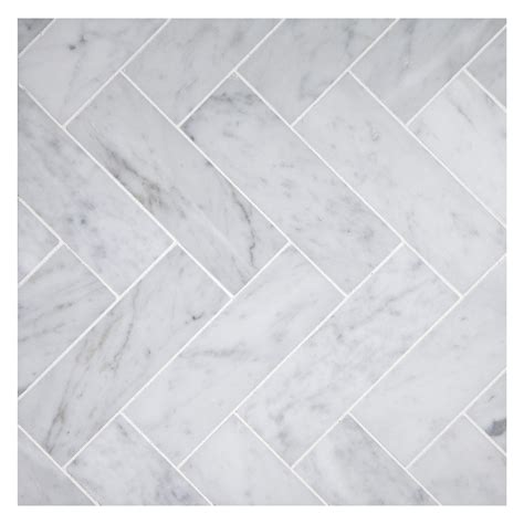 Backsplash In The Kitchen by Herringbone Mosaic 2 X 6 Tile Carrara Honed Marble