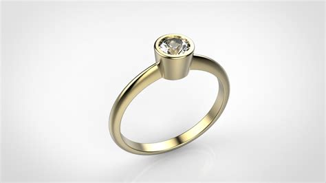 simple engagement ring 17 5mm j3dm shopj3dm